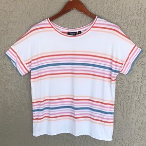 Onque Casual, short sleeve, striped top